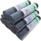 Romy Bags 60L x10 met Trekbrandsluiting Vuilniszakken 8 rollen 60lx10, 80 zaken Eco friend afvalzakken 100% recycled